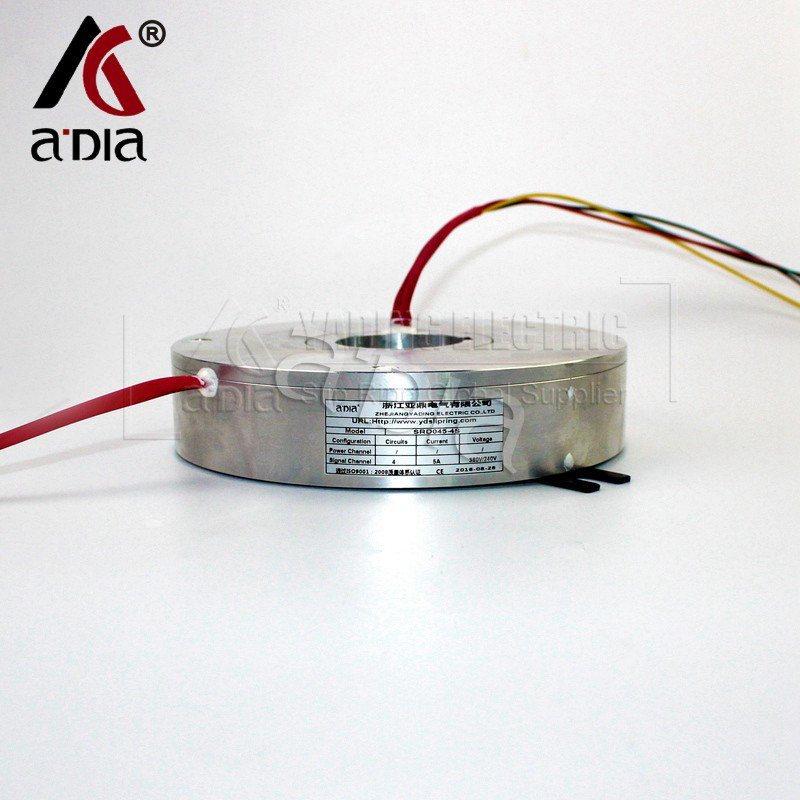 through bore slip ring SRD045-4S 5A 4rings adia wenzhou manufacturer