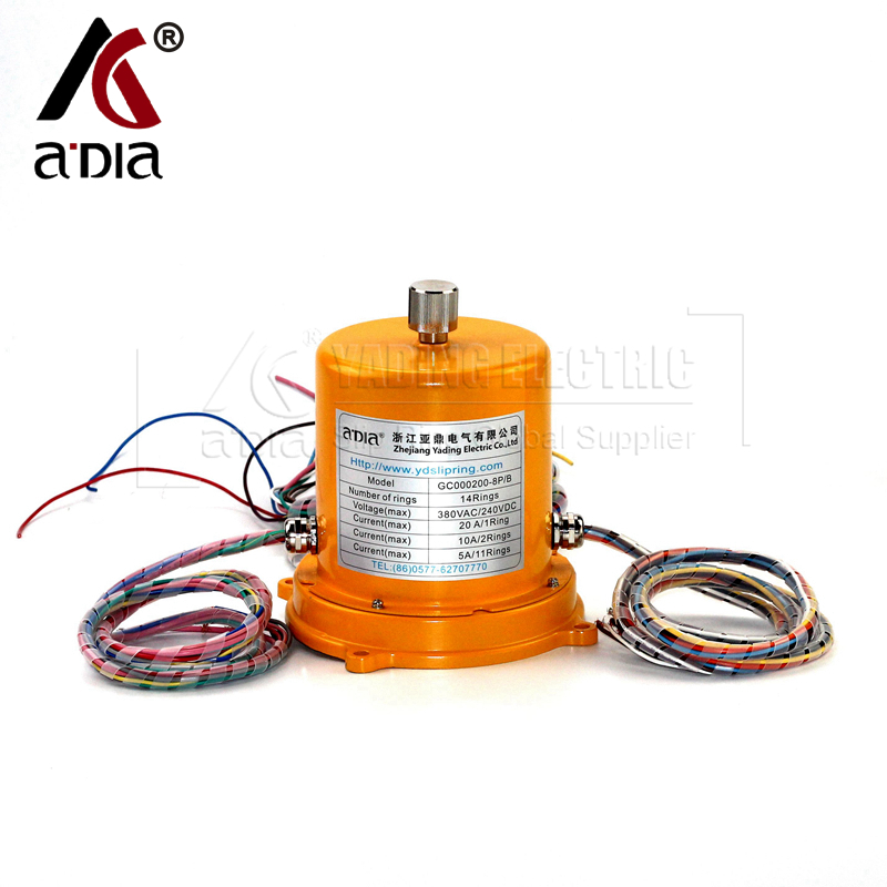 Slip ring on Construction Machinery GC00200-8P-B(14rings)