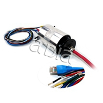 Signal through bore slip ring rotating connector CE electrical 20A ETHERNET